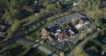Aerial photos of Clemmons Presbyterian Church