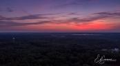Sunset over Davie County, July 2017